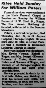 William Peters obit
