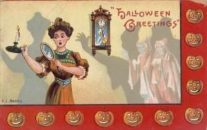1909 Halloween postcard