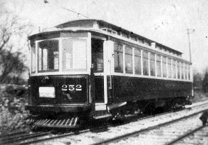 Charles Hack interurban electric car