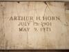 Arthur-Horns-broken-headstone